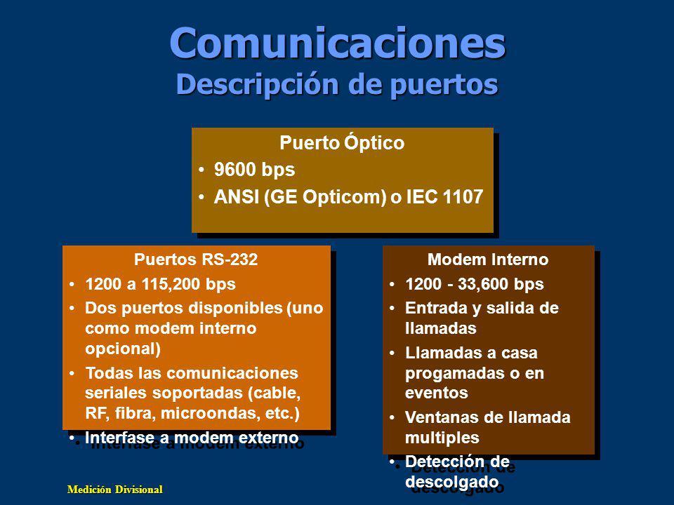 Comunicaciones Descripción de puertos