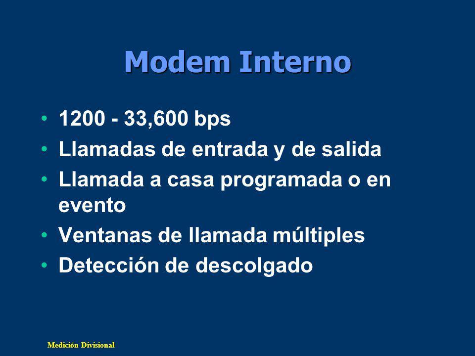Modem Interno 1200 - 33,600 bps Llamadas de entrada y de salida