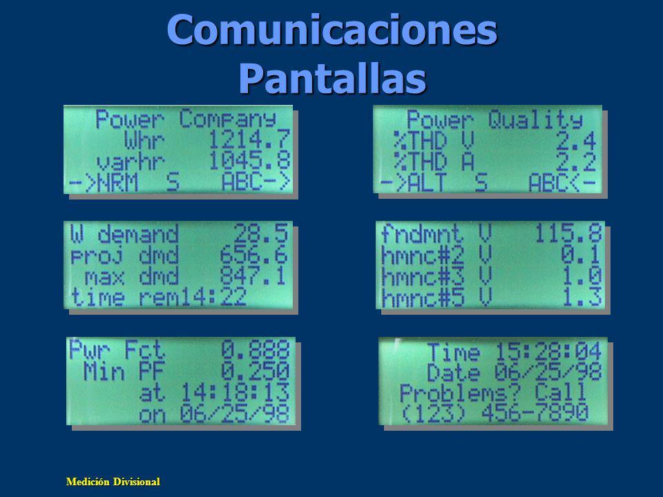Comunicaciones Pantallas