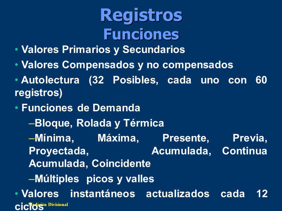 Registros Funciones Valores Primarios y Secundarios