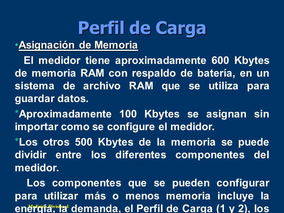 Perfil de Carga Asignación de Memoria