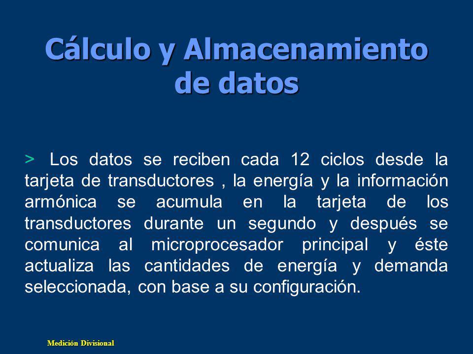 Cálculo y Almacenamiento de datos