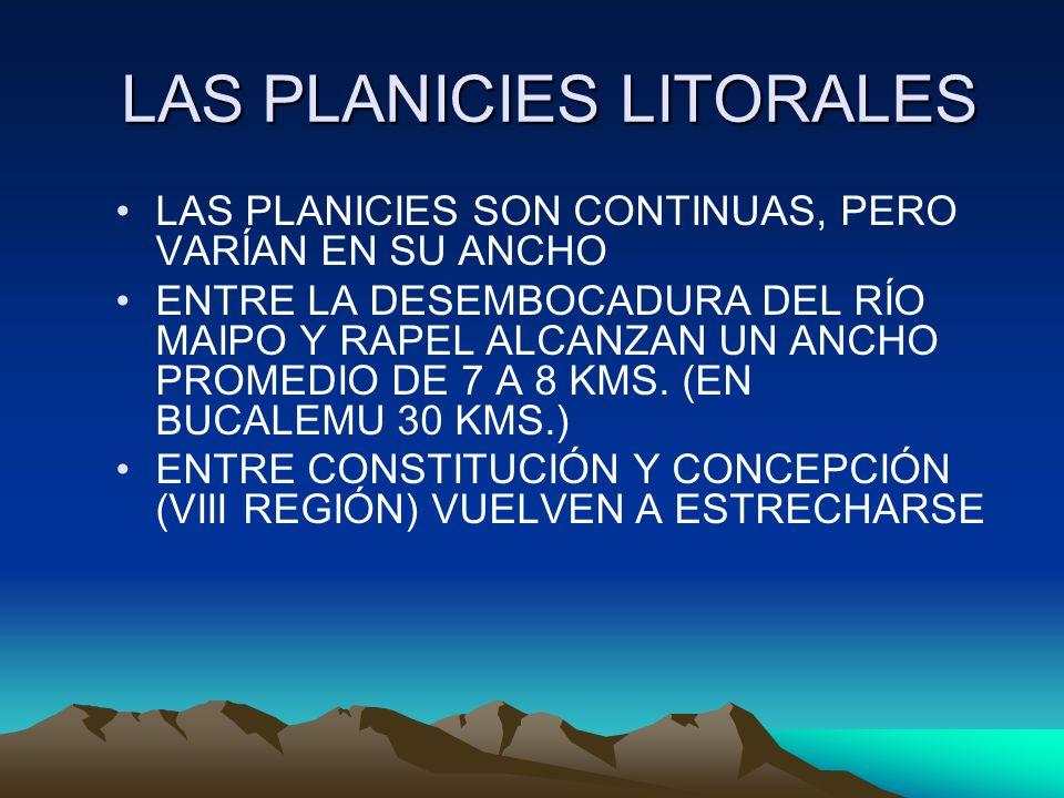 LAS PLANICIES LITORALES