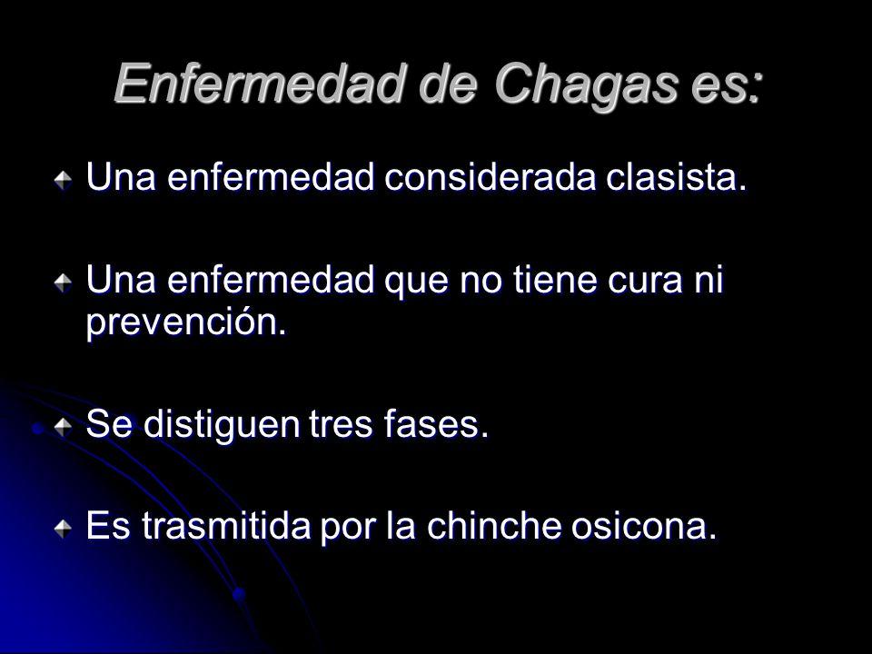 Enfermedad de Chagas es: