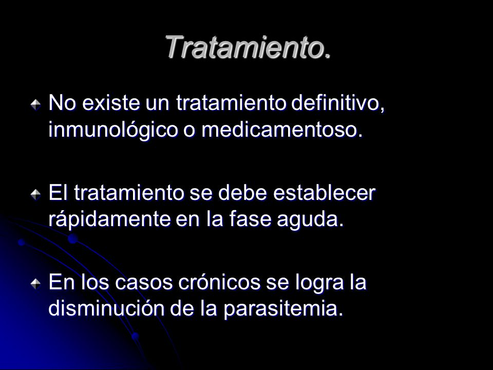 Tratamiento. No existe un tratamiento definitivo, inmunológico o medicamentoso. El tratamiento se debe establecer rápidamente en la fase aguda.