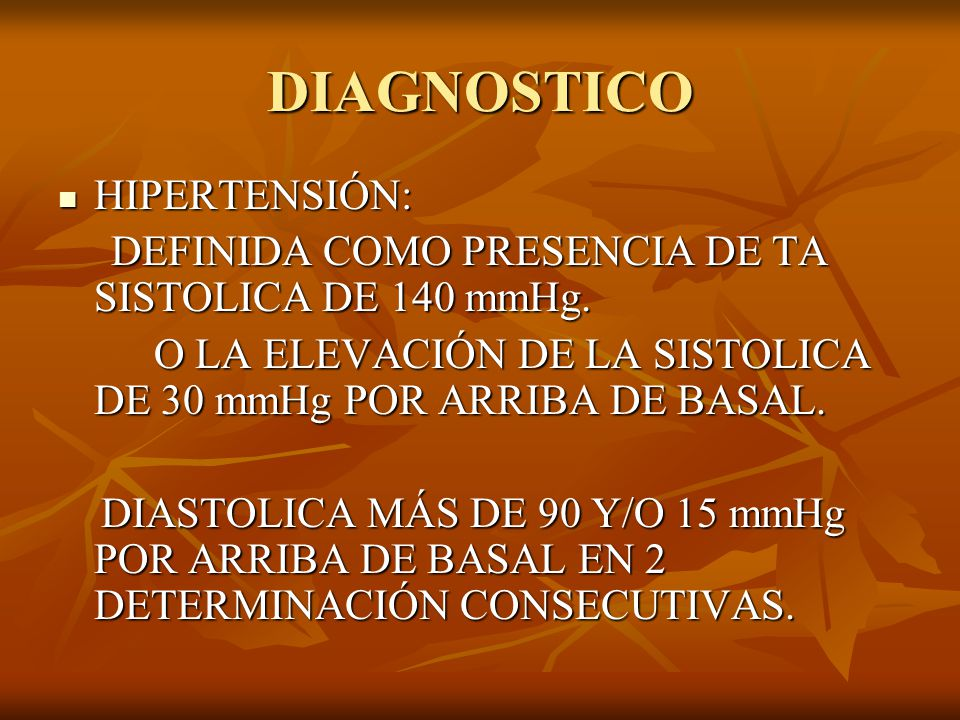 DIAGNOSTICO HIPERTENSIÓN: