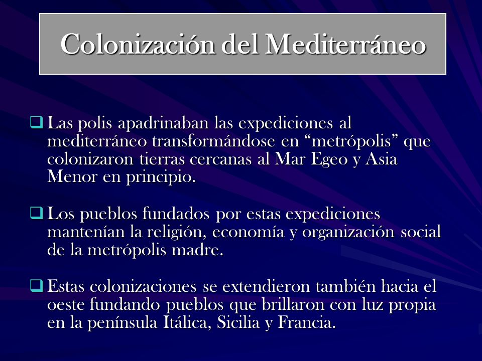Colonización del Mediterráneo