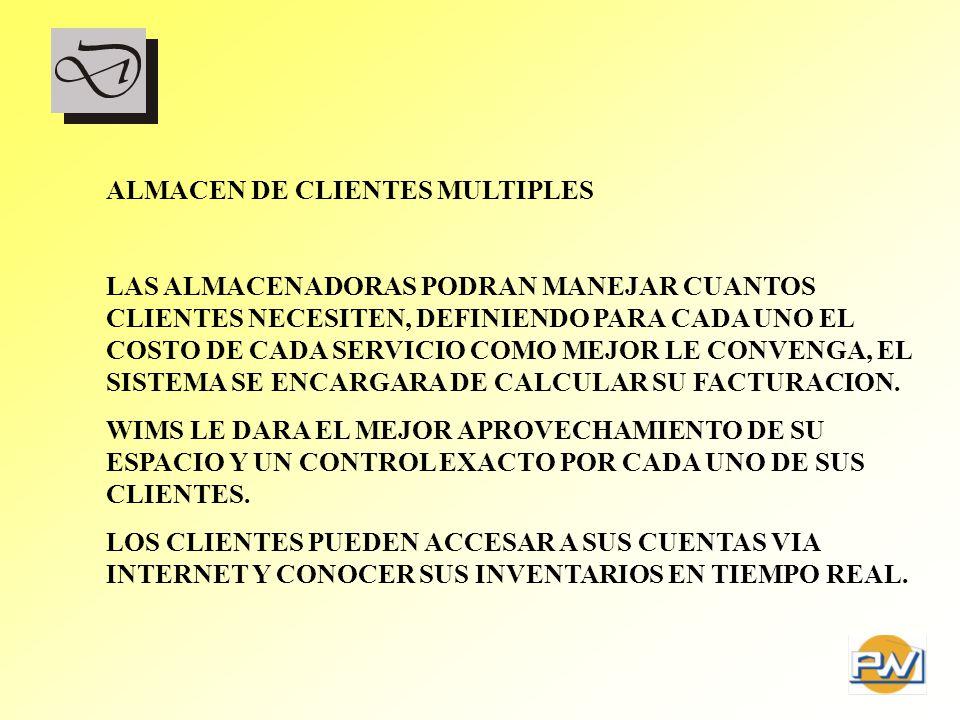 ALMACEN DE CLIENTES MULTIPLES