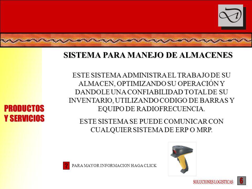 SISTEMA PARA MANEJO DE ALMACENES