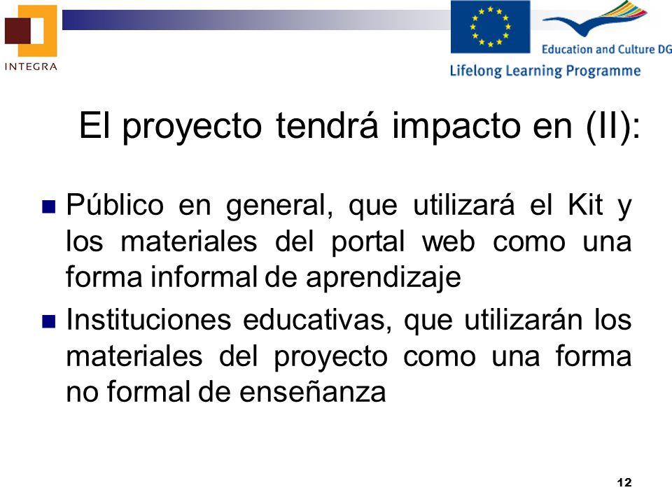 El proyecto tendrá impacto en (II):