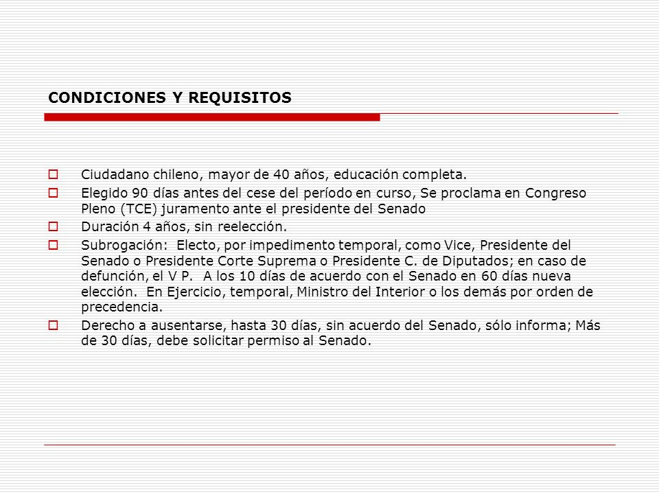 CONDICIONES Y REQUISITOS