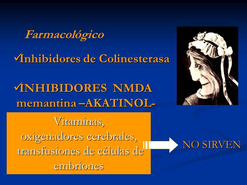 Inhibidores de Colinesterasa INHIBIDORES NMDA memantina –AKATINOL-