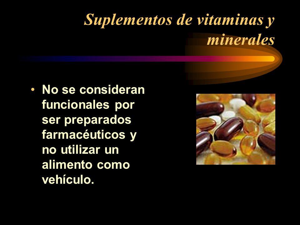 Suplementos de vitaminas y minerales