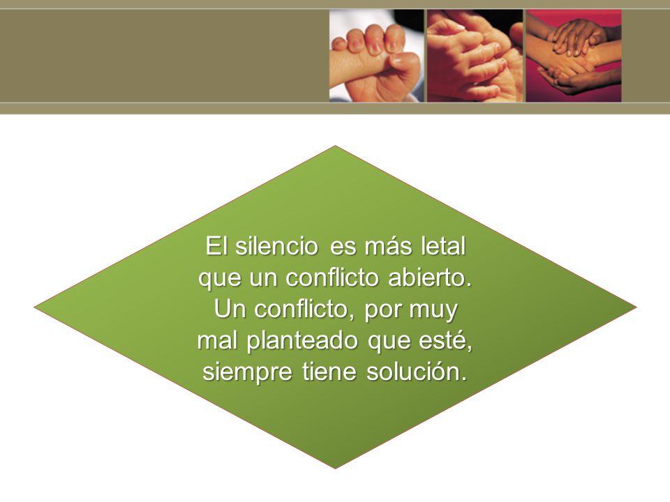 El silencio es más letal que un conflicto abierto.