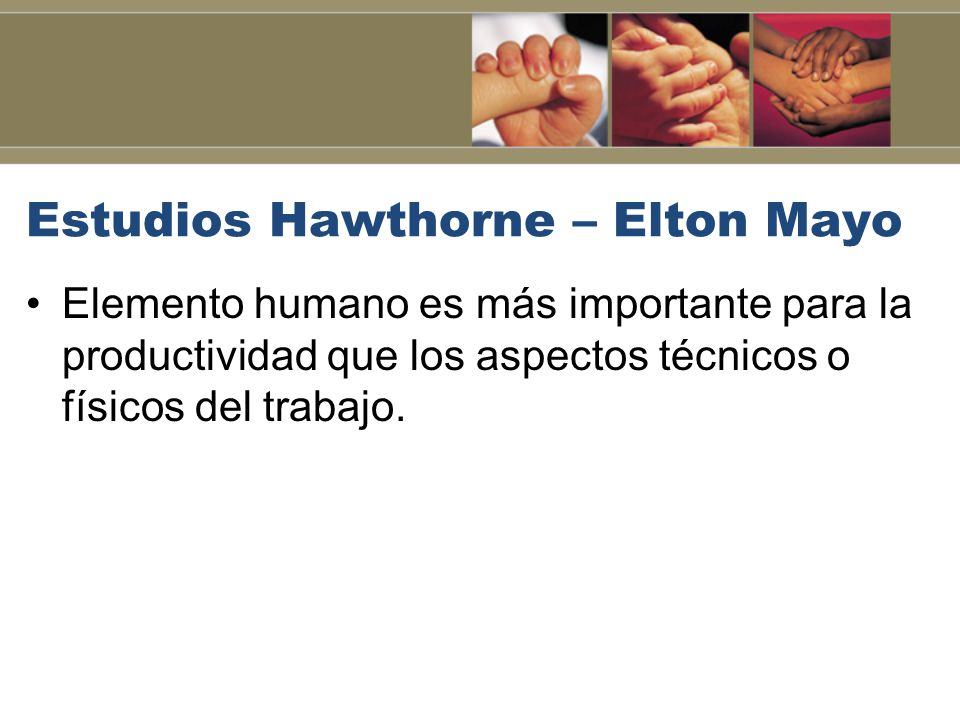 Estudios Hawthorne – Elton Mayo