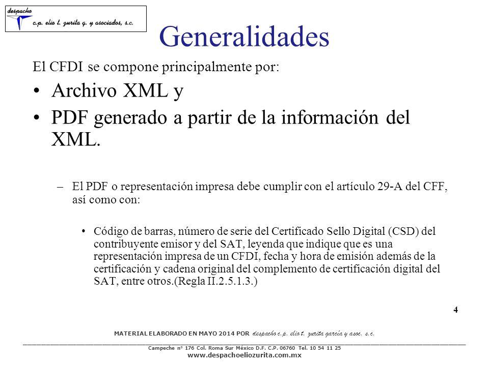 Generalidades Archivo XML y