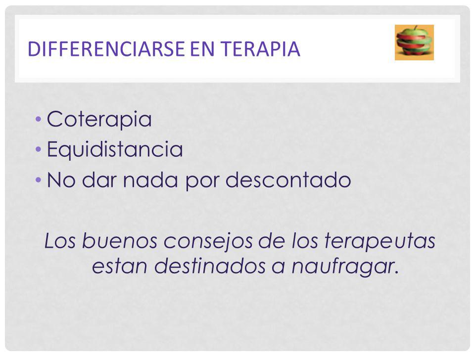 DIFFERENCIARSE EN TERAPIA