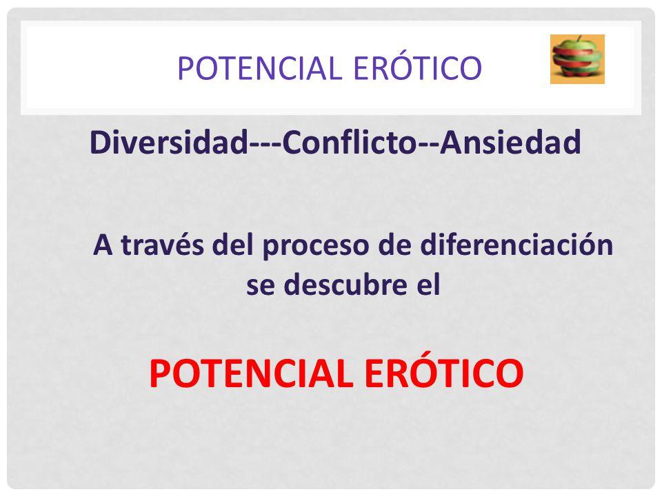 POTENCIAL ERÓTICO POTENCIAL ERÓTICO Diversidad---Conflicto--Ansiedad