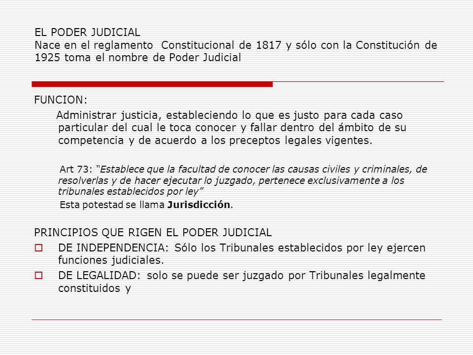 PRINCIPIOS QUE RIGEN EL PODER JUDICIAL