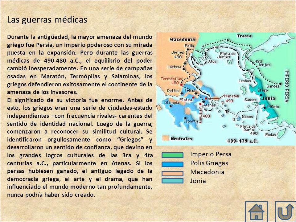 Las guerras médicas Imperio Persa Polis Griegas Macedonia Jonia