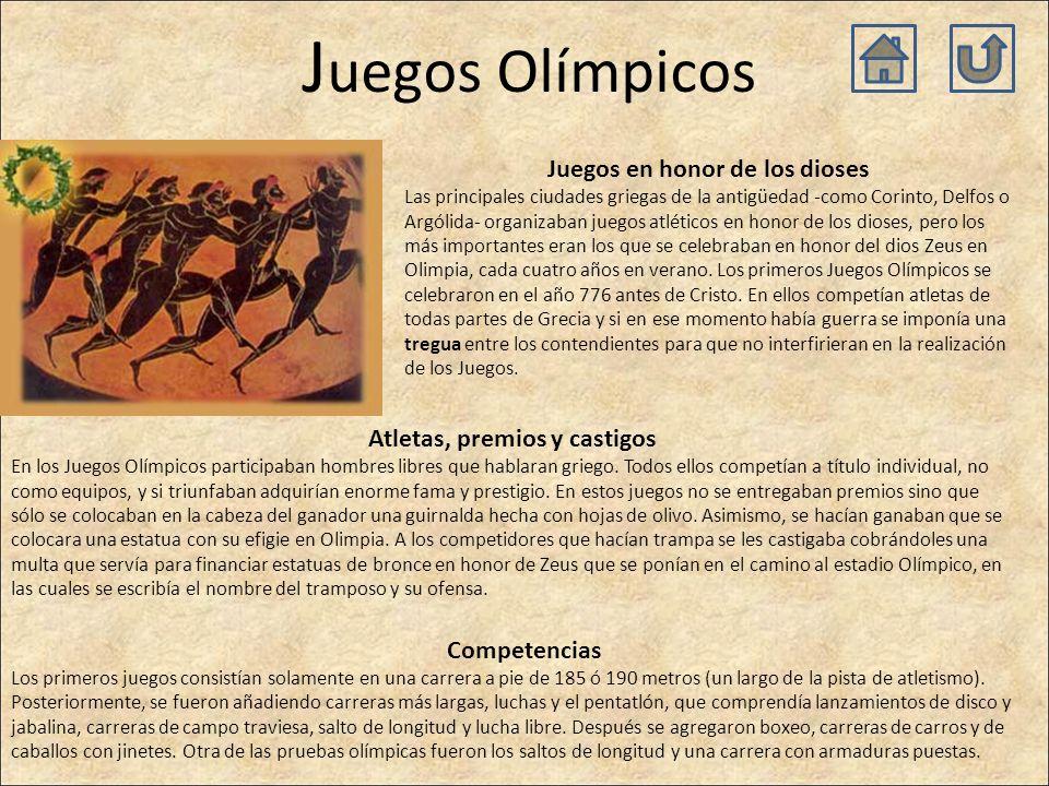 Juegos Olímpicos Juegos en honor de los dioses