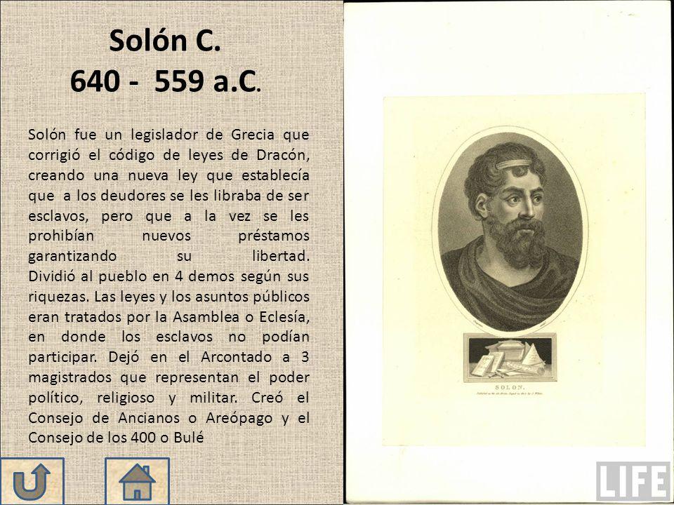 Solón C. 640 - 559 a.C.