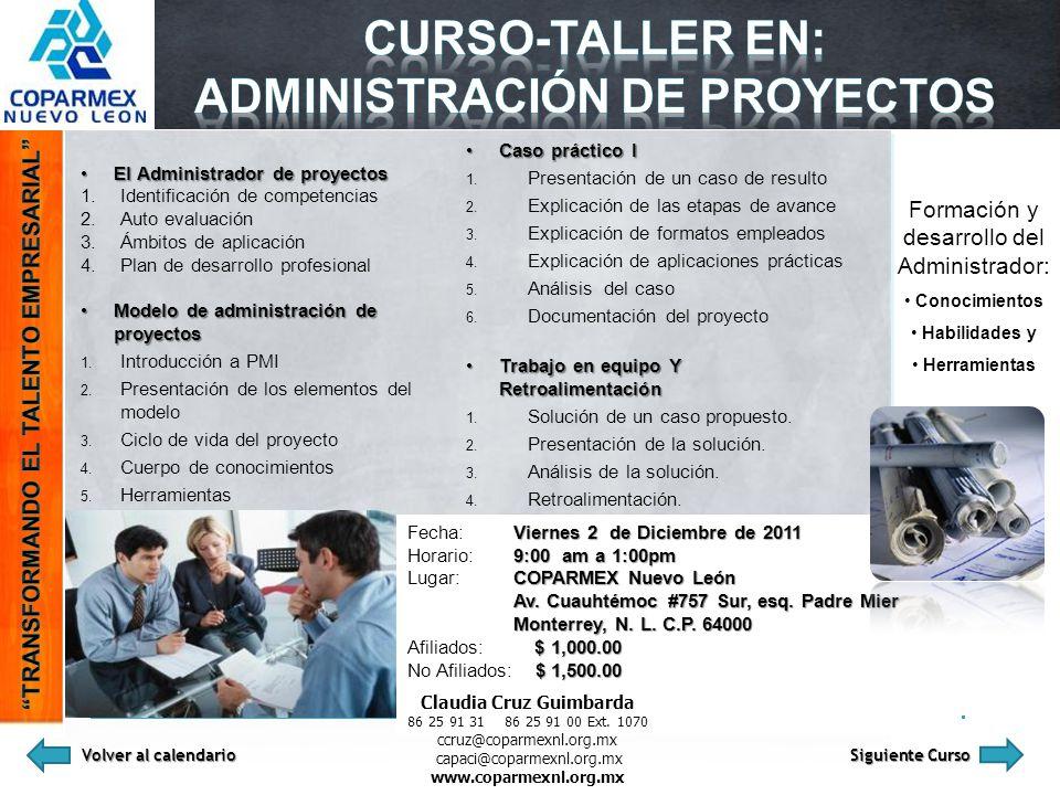 Administración de proyectos Claudia Cruz Guimbarda