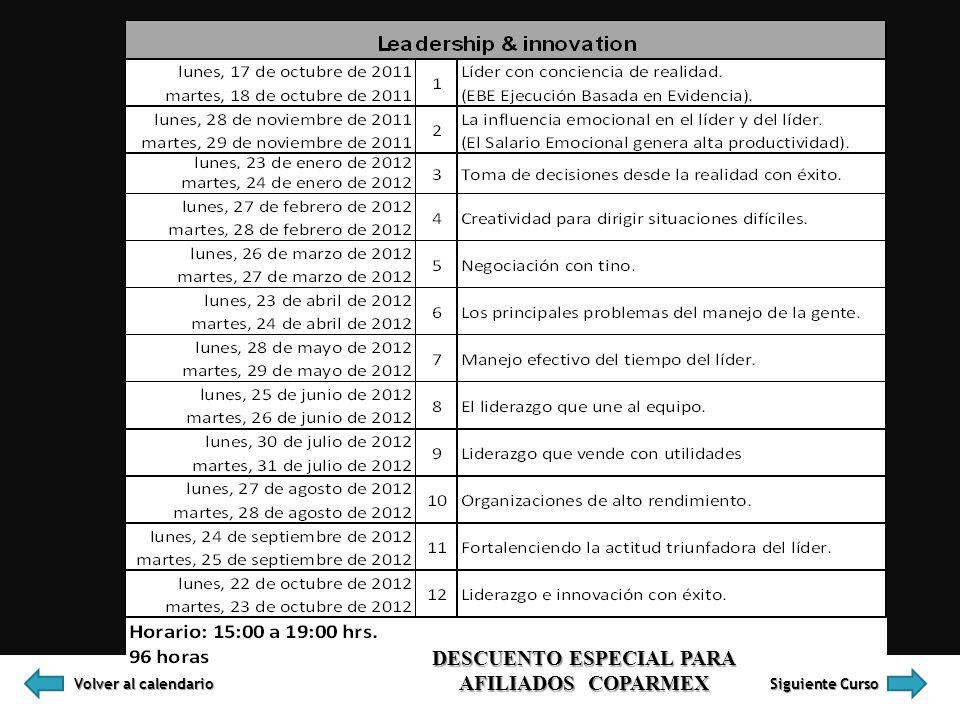 DESCUENTO ESPECIAL PARA AFILIADOS COPARMEX