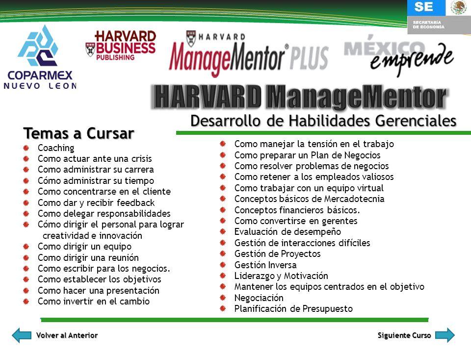 HARVARD ManageMentor Desarrollo de Habilidades Gerenciales