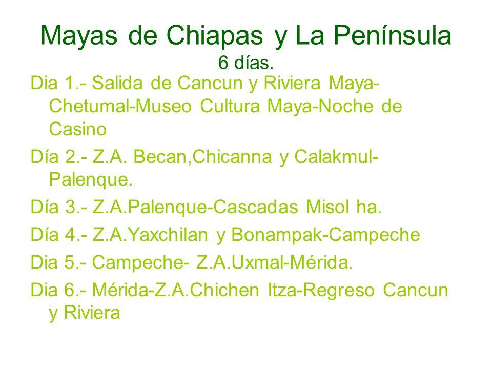 Mayas de Chiapas y La Península 6 días.