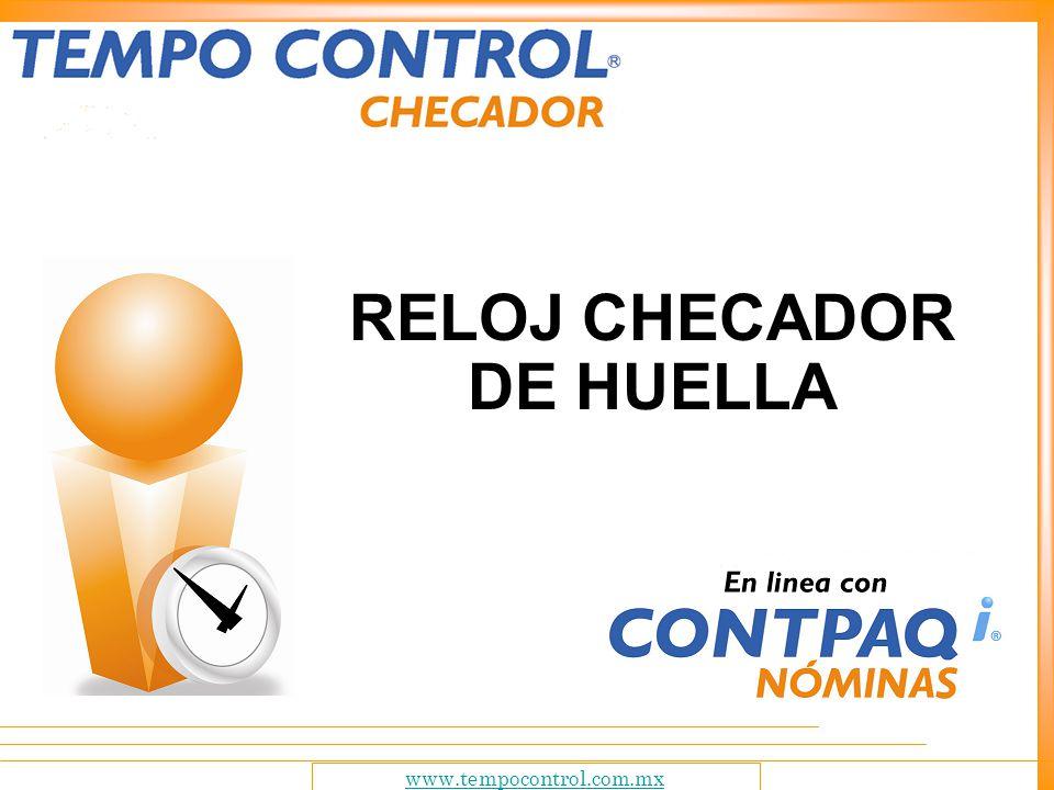 RELOJ CHECADOR DE HUELLA