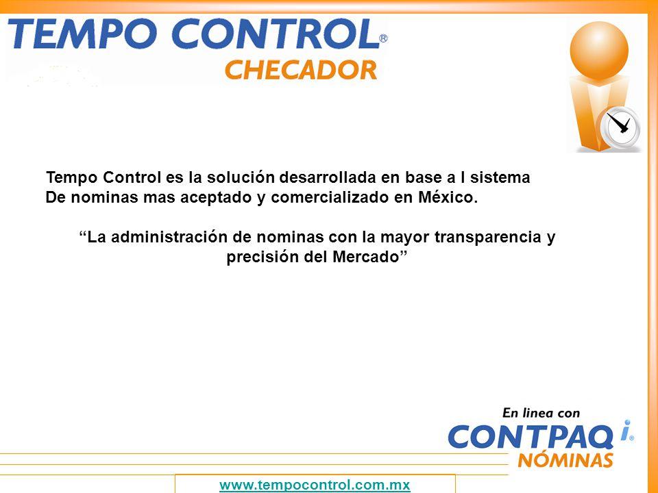 Tempo Control es la solución desarrollada en base a l sistema