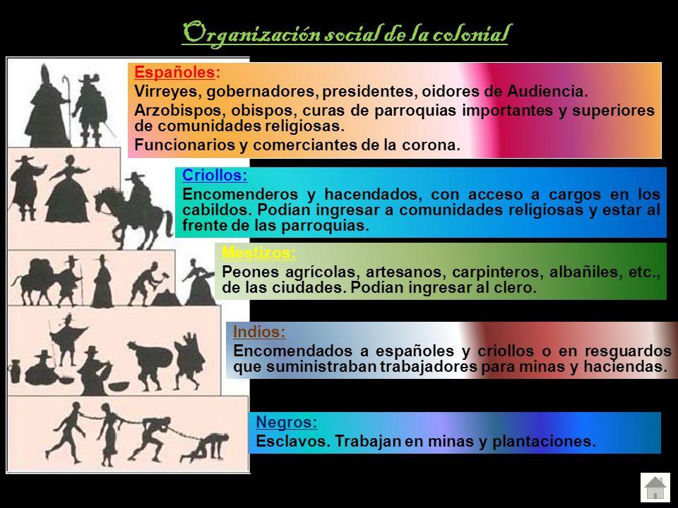 Organización social de la colonial