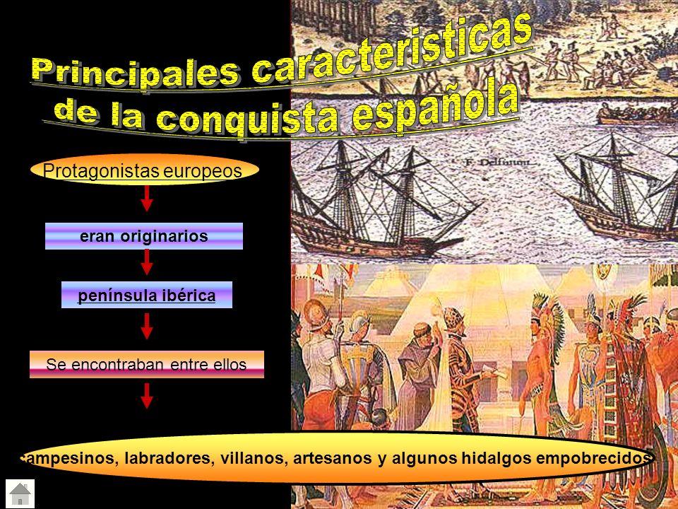Principales caracteristicas de la conquista española