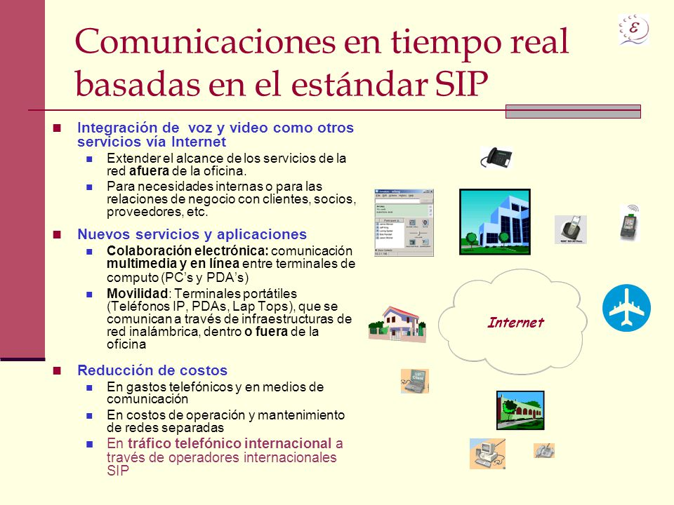 Comunicaciones en tiempo real basadas en el estándar SIP