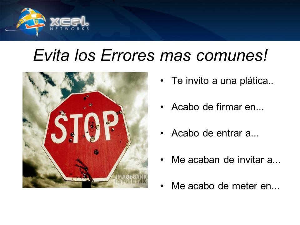 Evita los Errores mas comunes!