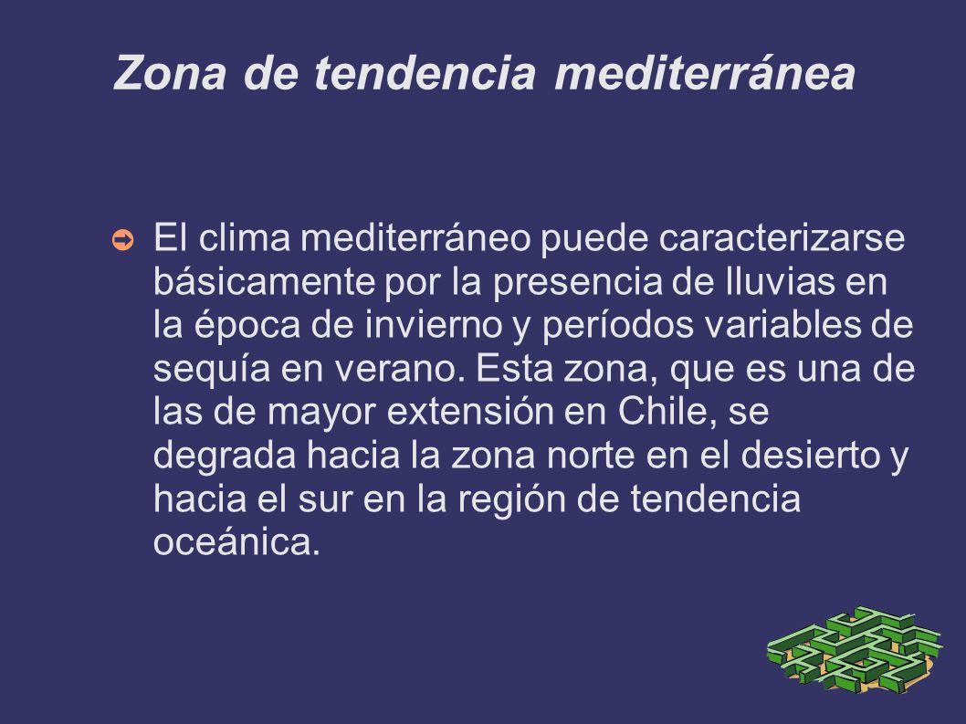 Zona de tendencia mediterránea