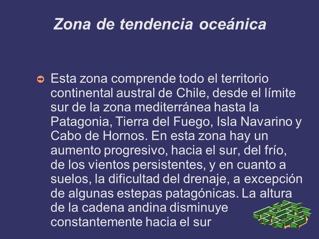 Zona de tendencia oceánica