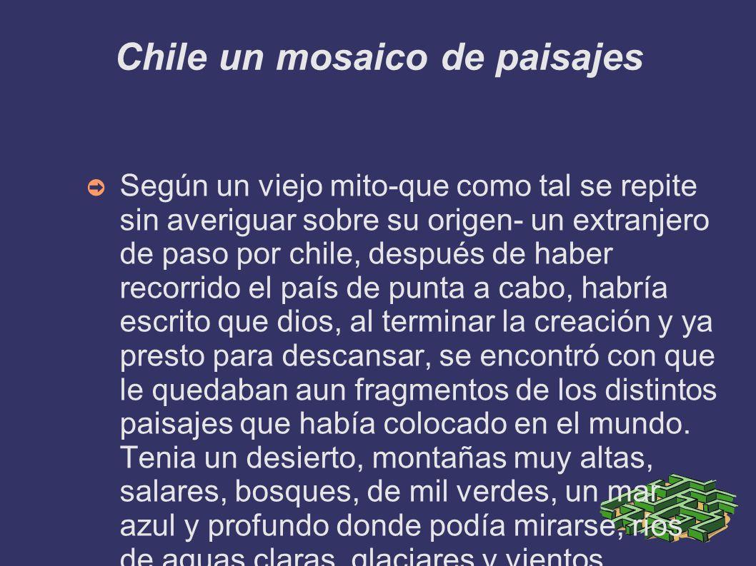 Chile un mosaico de paisajes