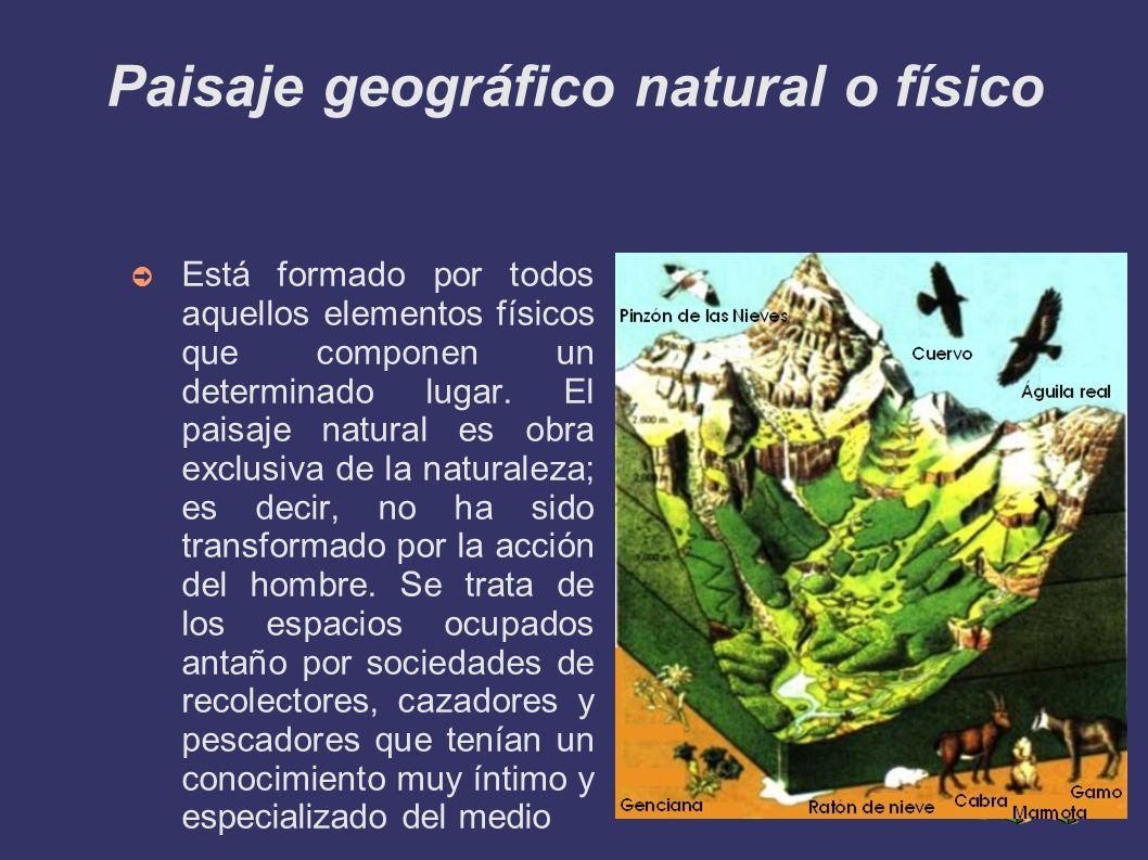 Paisaje geográfico natural o físico