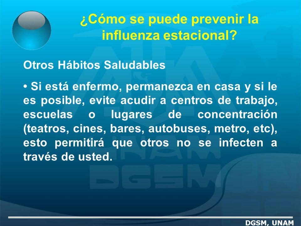 ¿Cómo se puede prevenir la influenza estacional