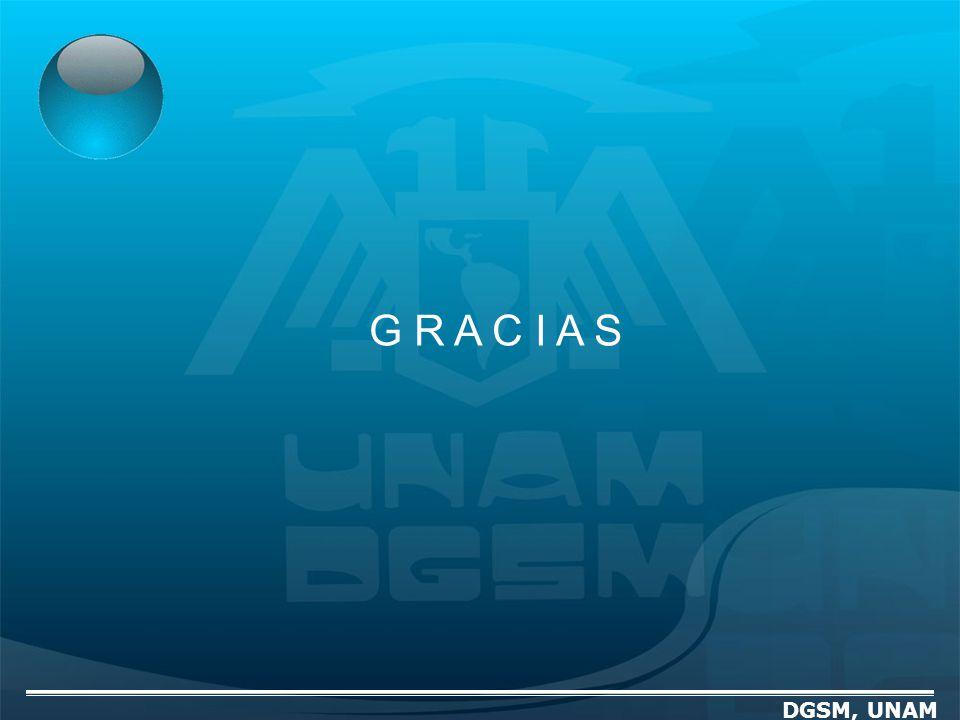 G R A C I A S DGSM, UNAM