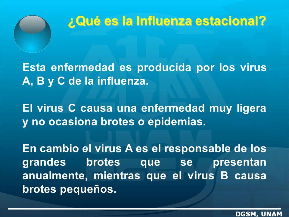 ¿Qué es la Influenza estacional