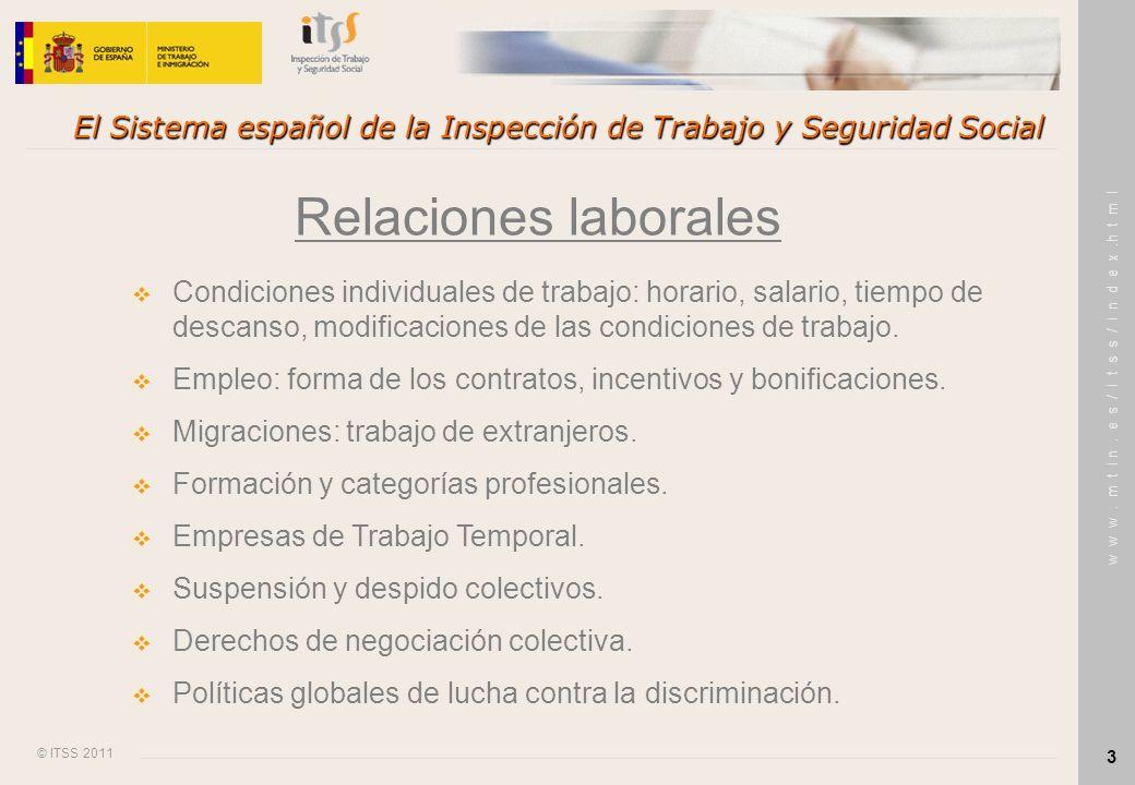 El Sistema español de la Inspección de Trabajo y Seguridad Social