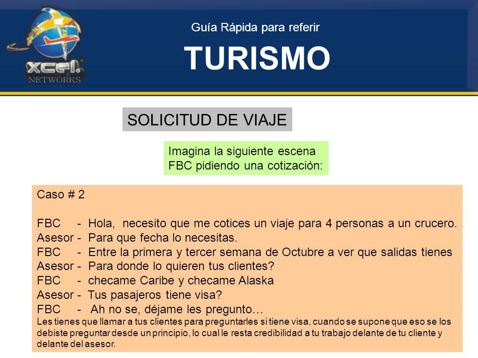 TURISMO SOLICITUD DE VIAJE Guía Rápida para referir