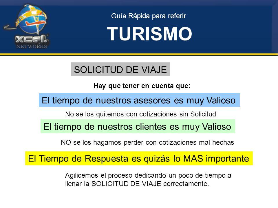 TURISMO SOLICITUD DE VIAJE