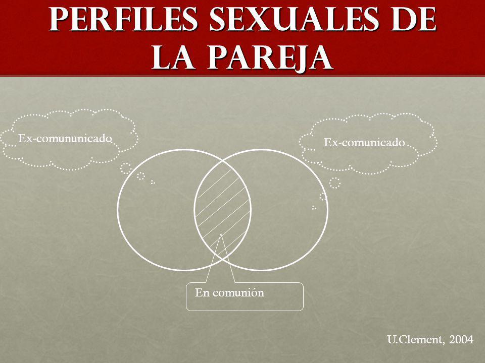 PERFILES seXUALES de LA PAREJA