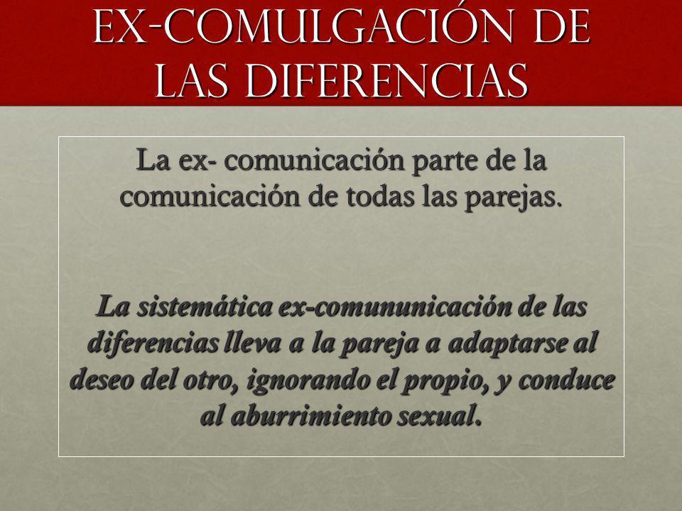 Ex-comulgación de las diferencias