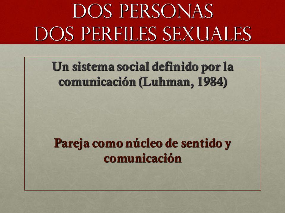 DOS PERSONAS DOS PERFILES SEXUALES