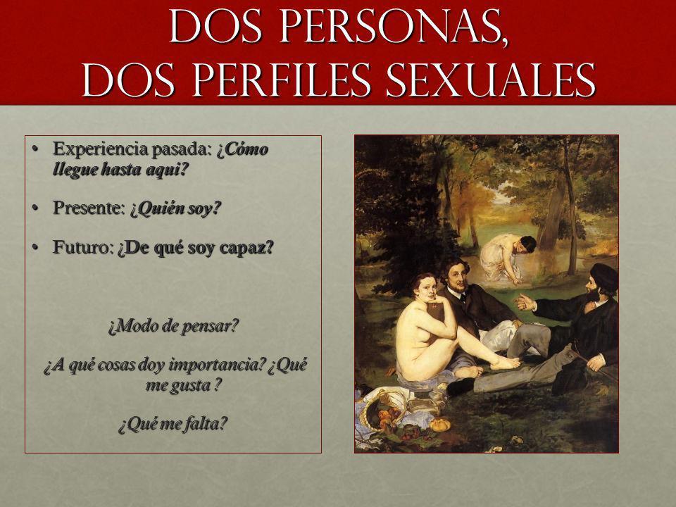 DOS PERSONAS, DOS PERFILES SEXUALES